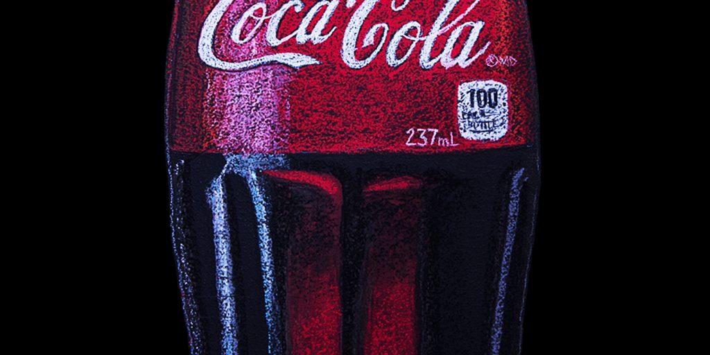 """Chalkboard logo, Coca Cola Bottle Chalkboard Logo"""""""