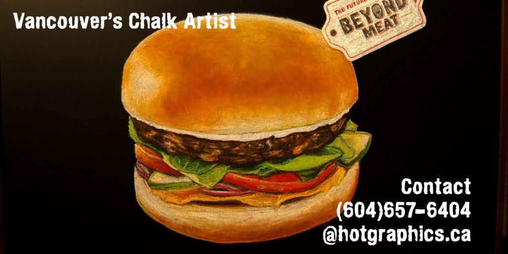 Vancouver Chalkboard Chalk Artist Creates Custom